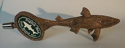 Lightly Used DOGFISH HEAD Craft Brewed Ale BEER TAP HANDLE (Wood Shark)