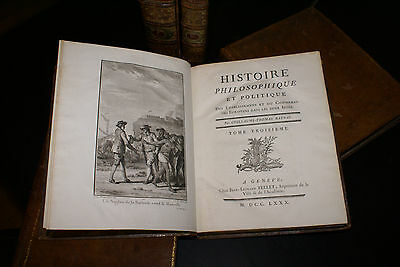 RAYNAL (Diderot) Histoire des 2 Indes, EDITION LA + RARE. Belle reliure