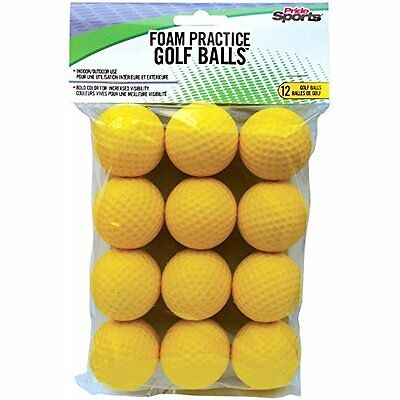 PrideSports Practice Golf Balls, Foam, 12 Count, Yellow by PrideSports
