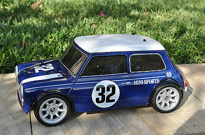 Tamiya Tg10 Nitro Mini Cooper Body 1/8 Scale