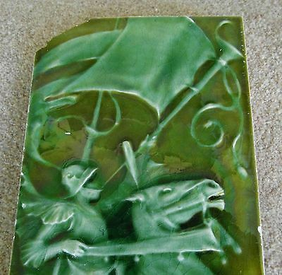 "Original  English  Art & Crafts 6""x12""Pilkington's tile c1899"