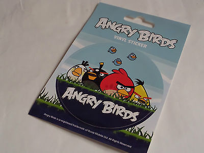 Round Group of Angry Birds Vinyl Sticker - New