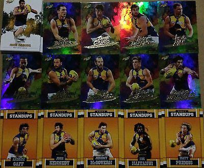 2017 Select Footy Stars West Coast Eagles 36 cards total.