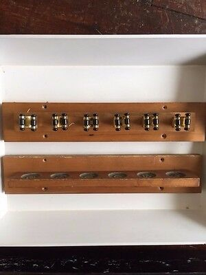 Vintage Wall Mounted SNOOKER POOL BILLIARDS Cue Rack Wooden