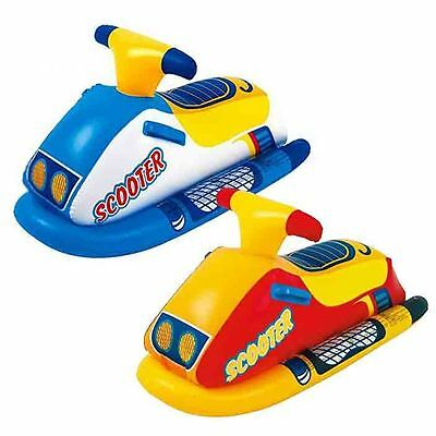 Kids Inflatable Scooter Rider Dinghy Boat Swimming Pool Float Water Toy Age 3+