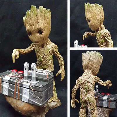 New In Box Guardians of the Galaxy Vol. 2 Baby Groot Bombenknopf Drucken Figur