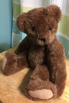 Vintage 1992 Vermont Teddy Bear Company Classic Jointed Brown Teddy Bear