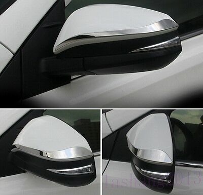 Fit For Toyota RAV4 2014-2015 2PCS Stainless Rearview Side Mirrors Cover Trim