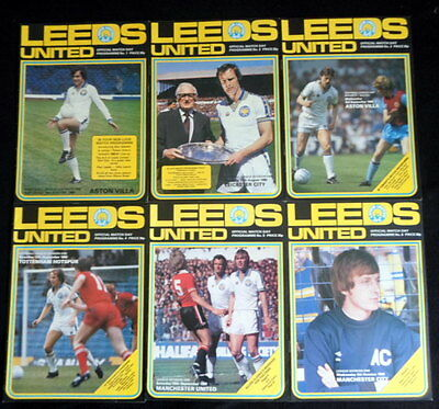 Leeds United  league & cups home   1980-1981     all listed
