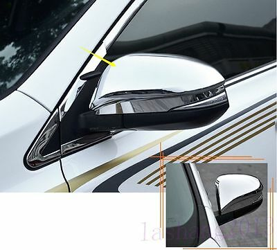 Fit For Toyota RAV4 2014-2015 Chrome Side Door Rearview Mirror Trim Cover 2PCS