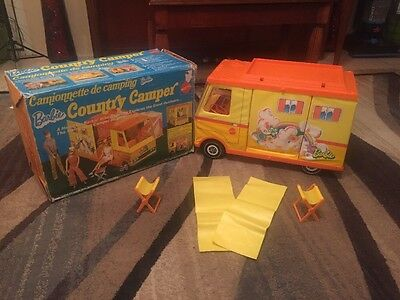 Vintage 1972 BARBIE COUNTRY CAMPER Doll Motorhome Tent w/BOX COOL KEN