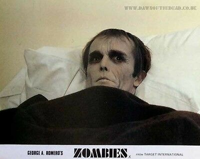 Zombies Dawn Of The Dead British Lobby Card Full Set Original 8x10 Inches