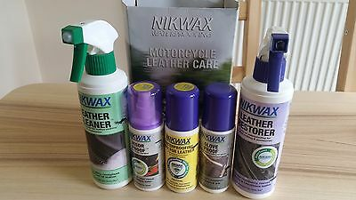 Nikwax Motorcycle Leather Care Kit Cleaning/Proofing Value Pack