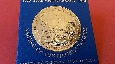 350 Anniversary Southampton,the sailing of the pilgrim fathers Medal