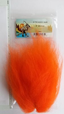 """Fly Tying Synthetics /"""" STREAMER HAIR /"""" big patch CHARTREUSE     Musky,Pike,Bass"""