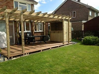 pergola 12'x12' 3.6x3.6 garden structure arbour made to order in any size