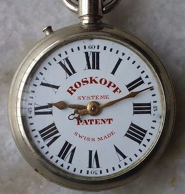 ROSKOPF SYSTEME PATENT Pocket watch Procelain Dial Swiss Made