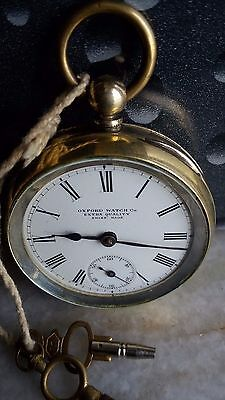 OXFORD WATCH CO EXTRA QUALITY Pocket watch Procelain Dial Swiss made Rare
