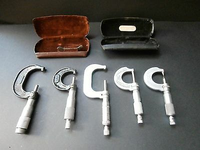 """""""Job Lot """"of Moore and Wright and otherEngineering Micrometers in Good Condition"""