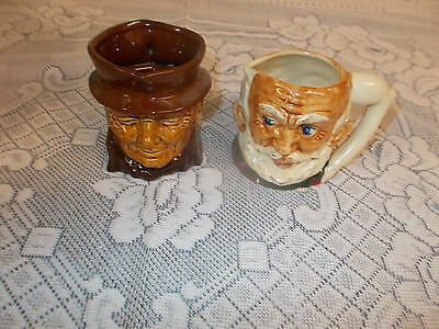 Nice Collectible  2 Toby Jugs One Made Japan Other Is Marked And Nubered.