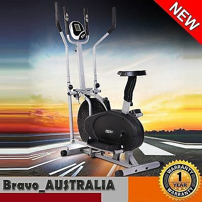 Elliptical Cross Trainer Machine Home Gym Fitness Exercise Stepper Bike Bicycle