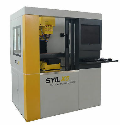 NEW Syil X5plus 'Combo' CNC Milling Machine with 4th Axis & Integral Computer