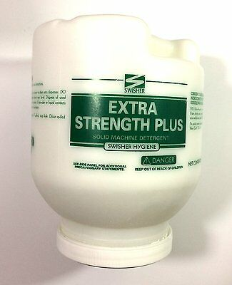 Swisher Extra Strength Plus Solid Dish Machine Detergent, 8 lbs, Case of 4