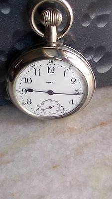 Omega Winding Pocket Watch Swiss Made Porcelain dial Nickel body