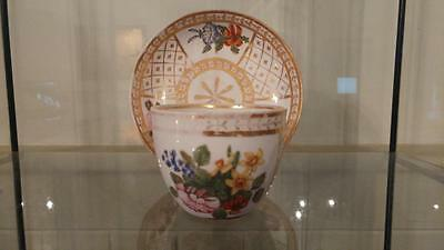 Beautiful Georgian Coalport Hand Painted Cup & Saucer C 1800