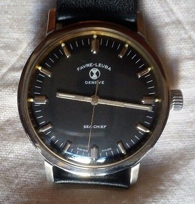 Favre Leuba Geneve Sea Chief winding wrist watch