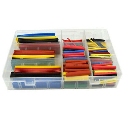 2:1 Polyolefin Heat Shrink Tube Sleeve Wrap Wire Assortment 7/8 Size 127/328PCS