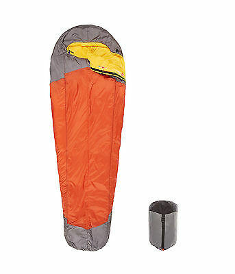 The North Face Lynx Sleeping Bag (Orange Rust/Zinc Grey, Regular) Mens Unisex