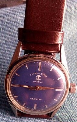 Favre Leuba Geneve Sea King Vintage Winding Wrist Watch (Rare)