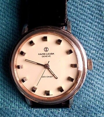 Favre Leuba Geneve Sea Chiff Vintage Winding Wrist Watch