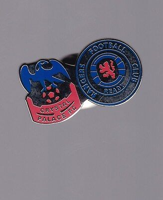 Glasgow Rangers Gers & Crystal Palace Club Gold gilt  Pin Badge