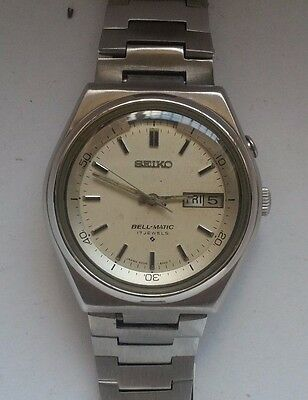 Seiko Bell Matic 17 Jewels Japan Automatic Day And Date Vintage (Rare)