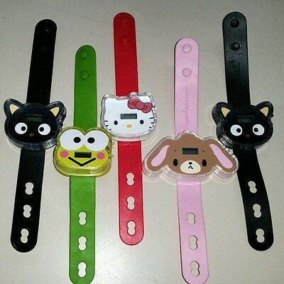Lot Sanrio 50th Anniversary Watches - Hello Kitty Happy Meal BONUS! Frog dog cat