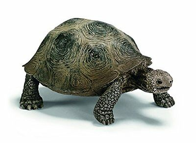 2.2X3.4X1.6In Schleich Plastic Hand Painted Realistic Giant Tortoise Toy Figure