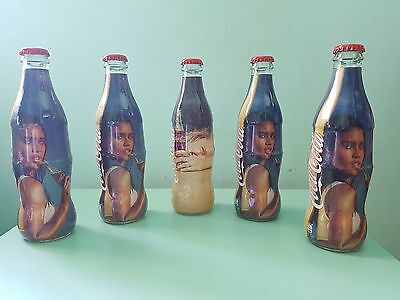 Coca Cola Taste The Feeling Glass Bottles Limited Edition