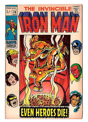 IRON MAN ( The Invincible....) #18  (1969) Avengers appearance