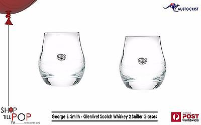 The Glenlivet Scotch Whiskey 2 Snifter Glass George E. Smith Founders ED' BNWOB