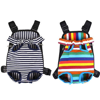 Outdoor Canvas Dog Puppy Pet Front Backpack Adjustable Carrier Bag One Size