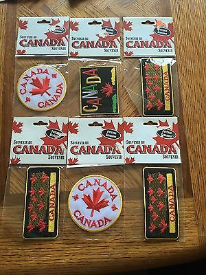 Assorted Pack of Canada Patches