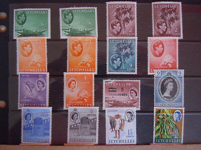 Seychelles-MNH & M/M Stamps- Values To 1 Rupee.