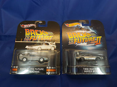 Back to the Future x 2 Die cast car Hot wheels Retro Entertainment lot