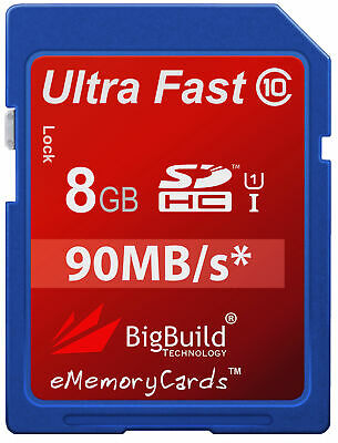 8GB Memory card for Fuji Film FinePix J40 Camera | Class 10 90MB/s SD SDHC New