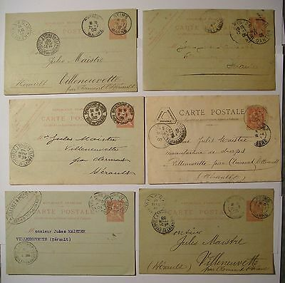 akw - FRANCE - LOT DE 10 CARTES POSTALES AVEC MOUCHON 10c