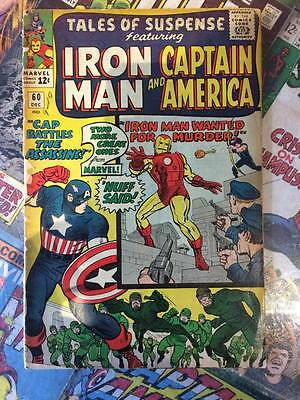 Tales Of Suspense #60. Marvel Dec 1964. 2nd Appearance Hawkeye. Cover Detached
