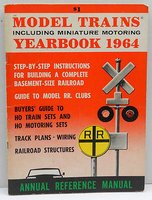 1964 Model Trains Yearbook including Miniature Motoring Annual Reference Manual