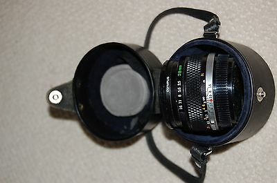 Lens Olympus 28 mm  for Olympus OM-1 with Case, Strap